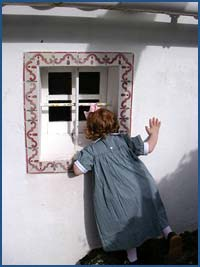 Layla at window in Penido
