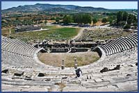 MILETOS, WITH ITS HUGE HELLENISTIC THEATER THAT SEATED 15,000 PEOPLE
